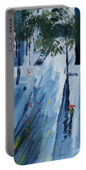 Raining Again Portable Battery Charger by Pamela  Meredith