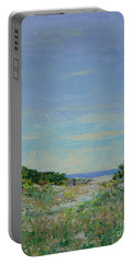 Rainy Day Beach Blues Portable Battery Charger