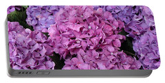 Portable Battery Charger featuring the photograph Rainy Day Flowers by Ira Shander