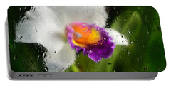 Rainy Day Orchid - Botanical Art By Sharon Cummings Portable Battery Charger by Sharon Cummings