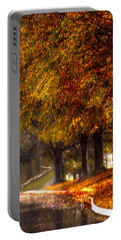 Portable Battery Charger featuring the photograph Rainy Day Path by Lesa Fine