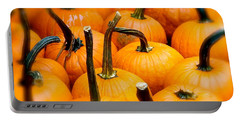 Portable Battery Charger featuring the photograph Rainy Day Pumpkins by Ira Shander