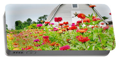 Raising Zinnia Flowers - Delaware Portable Battery Charger