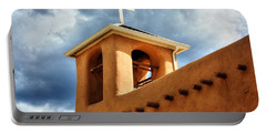 Rancho De Taos Bell Tower And Cross Portable Battery Charger