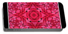 Portable Battery Charger featuring the photograph Ranunculus Flower Warp by Rose Santuci-Sofranko
