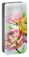 Ranunculus Flowers Portable Battery Charger