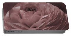 Portable Battery Charger featuring the photograph Ranunculus Red by Jean OKeeffe Macro Abundance Art
