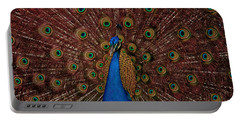 Portable Battery Charger featuring the photograph Rare Pink Tail Peacock by Eti Reid