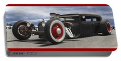 Rat Rod On Route 66 Panoramic Portable Battery Charger