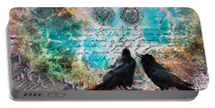 Crow Whispers In The Nowhere Portable Battery Charger