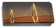 Ravenel Bridge At Dusk Portable Battery Charger