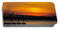 Portable Battery Charger featuring the photograph Orange Blaze by Dale Powell