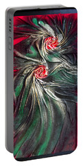 Raw Red Roses Framed Portable Battery Charger