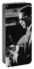 Ray Charles At The Piano Portable Battery Charger