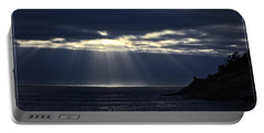 Rays Of Hope At Cape Kiwanda Oregon Portable Battery Charger