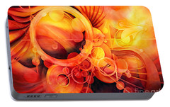 Rebirth - Phoenix Portable Battery Charger by Hailey E Herrera