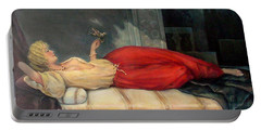 Reclining Woman Portable Battery Charger