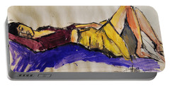 Reclining Woman - Pia #5 - Figure Series Portable Battery Charger