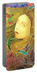 Portable Battery Charger featuring the painting Recordando A Puerto Rico by Oscar Ortiz
