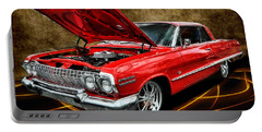 Red '63 Impala Portable Battery Charger by Victor Montgomery