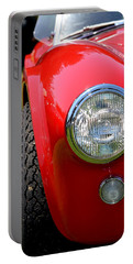 Portable Battery Charger featuring the photograph Red Ac Cobra by Dean Ferreira