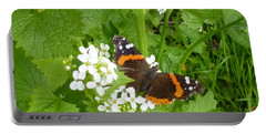 Portable Battery Charger featuring the photograph Red Admiral Butterfly by Lingfai Leung