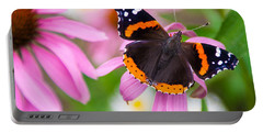 Portable Battery Charger featuring the photograph Red Admiral Butterfly by Patti Deters