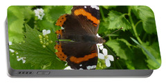 Portable Battery Charger featuring the photograph Red Admiral In Toronto by Lingfai Leung