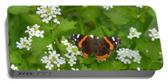 Portable Battery Charger featuring the photograph Red Admirals by Lingfai Leung