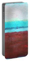 Red And Aqua Get Married Portable Battery Charger