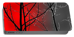 Red And Gray Portable Battery Charger by Cynthia Guinn