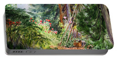 Portable Battery Charger featuring the painting Poppies Season In The Garden  by Irina Sztukowski