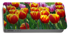 Portable Battery Charger featuring the photograph Red And Yellow Tulips  by Allen Beatty