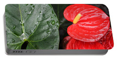 Red Anthurium Flower Portable Battery Charger