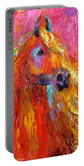 Red Arabian Horse Impressionistic Painting Portable Battery Charger