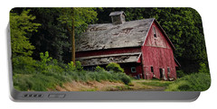 Red Barn - County Road  Portable Battery Charger