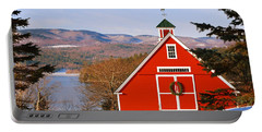 Red Barn On Newfound Lake Portable Battery Charger