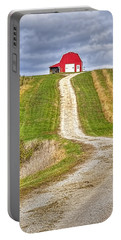 Red Barn On The Hill Portable Battery Charger