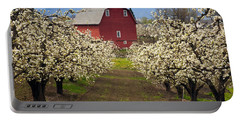 Red Barn Spring Portable Battery Charger by Mike  Dawson