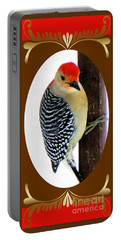 Portable Battery Charger featuring the photograph Red-bellied Woodpecker Framed by Janette Boyd