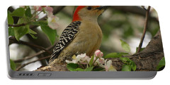 Portable Battery Charger featuring the photograph Red-bellied Woodpecker by James Peterson
