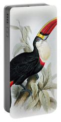 Red-billed Toucan Portable Battery Charger by Edward Lear