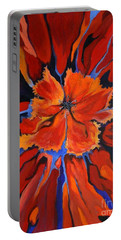 Red Bloom Portable Battery Charger