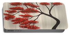 Red Bonsai Portable Battery Charger by Darren Robinson
