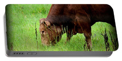 Red Brangus Bull Portable Battery Charger