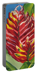 Red Bromeliad Portable Battery Charger
