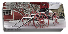 Portable Battery Charger featuring the photograph Red Buggy At Olmsted Falls - 1 by Mark Madere