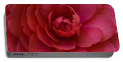 Red Camellia Portable Battery Charger
