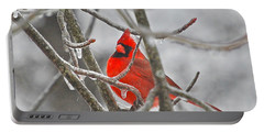 Red Cardinal Northern Bird Portable Battery Charger