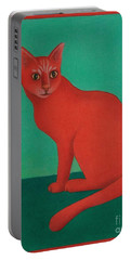 Red Cat Portable Battery Charger by Pamela Clements